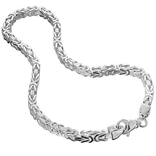 NKlaus Königskette 8mm Silberkette 925 Sterlingsilber Königs Armband massiv Herren 23cm 3487