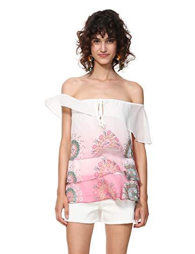 Desigual Damen Bluse Blouse Sleeveless Alyssa Woman PINK, Rosa (Rosa Marlen 3012),...
