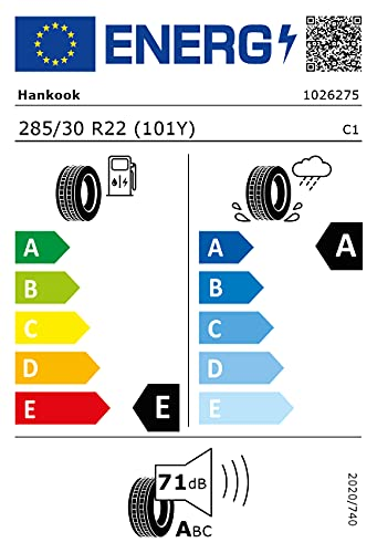 285/30ZR22 Hankook TL K127 AO XL 101Y *E.