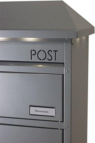 SafePost 95 LED Paketbriefkasten anthrazitgrau mit gesichertem Paketfach Standbriefkasten Briefkasten - 4
