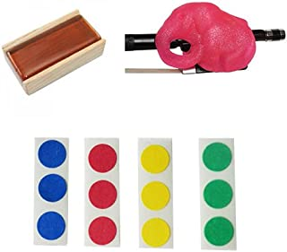 Cello Bow Practice Aid Pack - Includes Pink Cellophant, Rosin, & Finger Markers