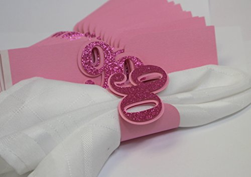 All About Details Pink 90 Napkin Holders, 12pcs, 7 x 2