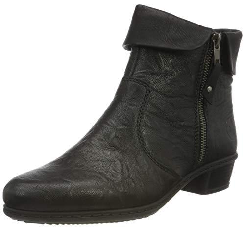 Rieker Damen Y07A8 Mode-Stiefel, schwarz/schwarz 01, 42 EU