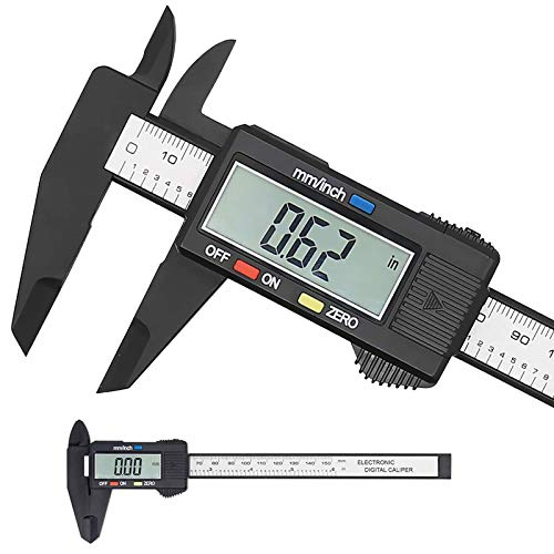 Elektronischer digitaler Messschieber, Kunststoff Messschieber Messwerkzeug mit Zoll/Millimeter Umwandlung, Extra großer LCD-Bildschirm, 0-6 Zoll/0-150 mm, Auto Off Featured Mikrometer Lineal