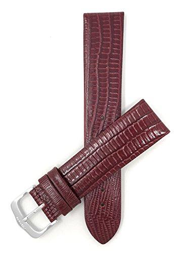 20mm Correa reloj de cuero auténtico, Borgoña, Burdeos, acabado semibrillante, también disponible en negro, marrón, marrón rojizo