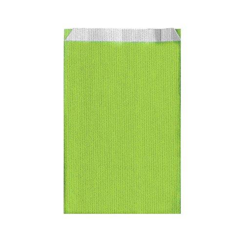 Garcia de Pou unité de 250 Sacs à Plat en boîte, 19 + 8 x 35 cm, Cellulose, Vert Anis, 19 x 35 x 30 cm