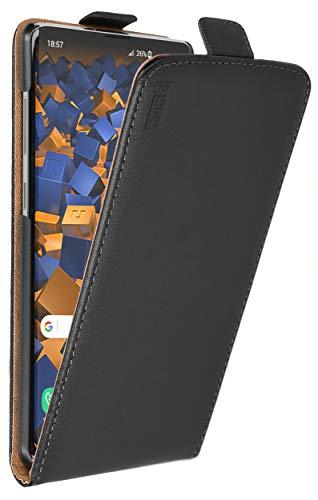 mumbi Echt Leder Flip Hülle kompatibel mit Samsung Galaxy S10+ Hülle Leder Tasche Hülle Wallet, schwarz