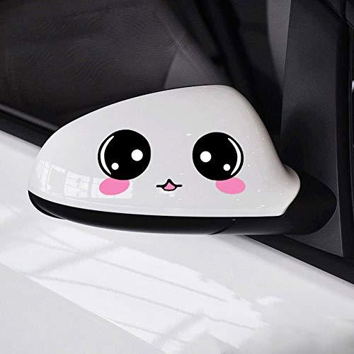 Auto-Seitenspiegel-Aufkleber, Smiley-Gesicht, 12 x 8 cm, 2 Stück Schön