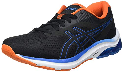 Asics Gel-Pulse 12, Road Running Shoe Hombre, Black/Reborn Blue, 44 EU