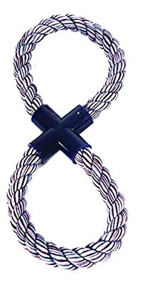 """""""Nuts for Knots"""" Figure of 8 Rope Dog Toy, Large"""