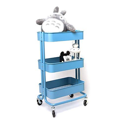 DJY-JY - Carrito con ruedas para ruedas con polea, 3 niveles para salón de belleza SPA, carrito de peluquería azul, 45 x 35 x 79 cm (tamaño: normal)