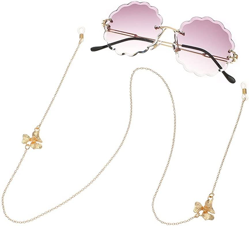 EEKLSJ Glasses Chain for Women Flowers Lanyard Fashion Glasses Strap Sunglasses Cords Casual Glasses Accessories (Color : A, Size : Length-70CM)