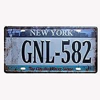 メタルライセンスプレートティンサインニューヨーク眠らない街車、ガレージ、クラブ、家の装飾に適しています。