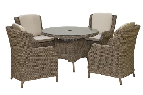 Akula 4005NTPA50 Colonial 4-Seater Prestige Dining Set