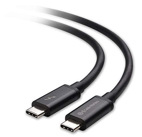 認証済み Cable Matters Thunderbolt 3 ケーブル 20 Gbps サンダーボルト 3 ケーブル 100W充電 2m ブラック