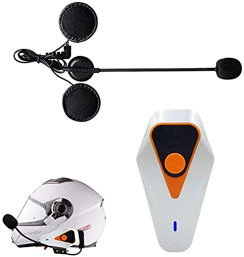 Auriculares de Bluetooth del Casco de la Motocicleta, 1000m Bluetooth Walkie-Talkie, FM Auricular Impermeable, Traje para Montar/Esquiar