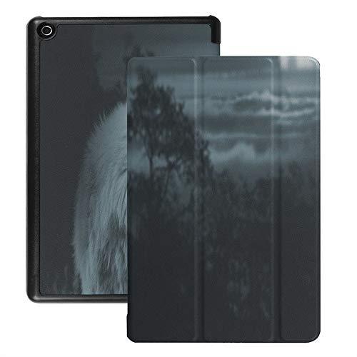 Colorful Star Amazon Kindle Fire HD 8 Hülle (8-Zoll-Tablet, 7. und 8. Generation - 2017 und 2018)- PU-Lederständer-Schutzhülle Smart Cover mit Auto Einschlafen/Aufwachen -