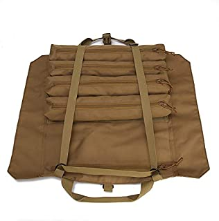 Wrench Roll Up Pouch Tools Organizer Bag Super Storage with 23 pockets (Tan)