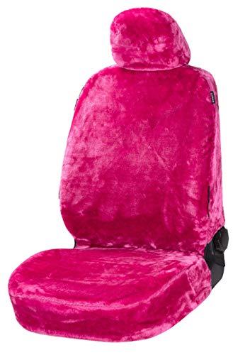 Walser Autositzbezug Teddy, Sitzbezug Kunstfell, Veganer Autoschonbezug in Felloptik, Flauschiger Schonbezug vegan pink 20092