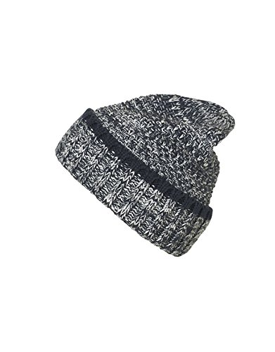 MYRTLE BEACH Men's Melange Beanie in navy/white Taille: Taille unique