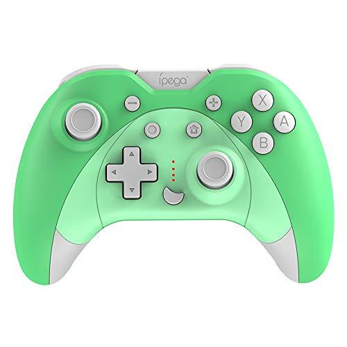 Controle Bluetooth s/fio Vibratório de Seis Eixos Gamepad para Console N-Switch / P3 / Android / PC Win7/8/10 Verde