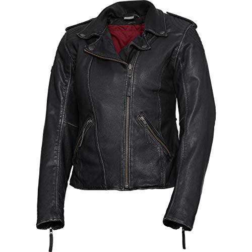 Spirit Motors motorjas met beschermers motor jas dames zacht leren jasje 2.0, dames, hakker/kruiser, het hele jaar door, leder