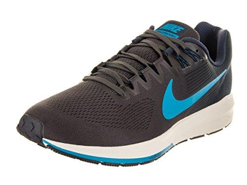 Nike Air Zoom Structure 21, Zapatillas para Hombre, Multicolor (Obsidian/Blue Hero/Thunder Grey 001), 45 EU