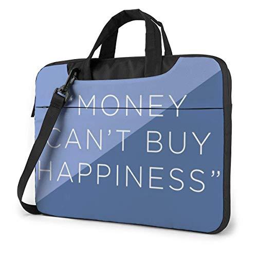 Geld kan niet kopen geluk laptophoes hoes 15,6 inch computerboodschappentas schouder Messenger aktetas