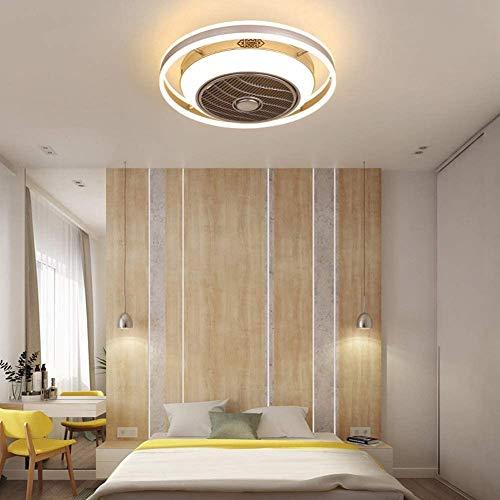 ZHLFDC Ventilador de iones negativos luz moderna minimalista restaurante Ventilador de techo Luz de techo de la sala dormitorio invisible for niños Nordic Light Ventilador