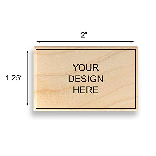 """Custom Art Mount Rubber Stamp. Max. Image Size: 1-1/4"""" high x 2"""" Wide (31mm x 50mm) - Many Sizes to Choose from - Upload Your Own Artwork"""
