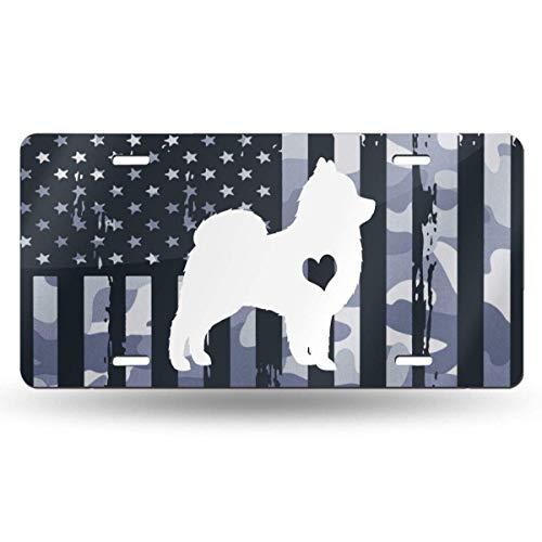 jiumin USAF Blaue weiße Flagge Adore Pomeranians Personalisierte benutzerdefinierte Nummernschild 6 'x 12' Aluminium Auto Tag
