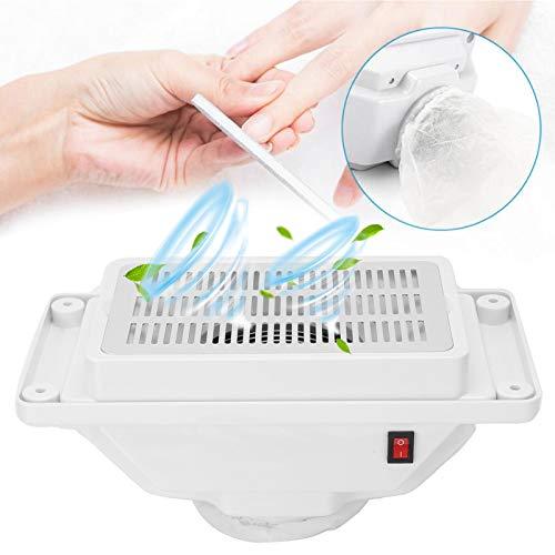 Aspiradora de uñas profesional, máquina portátil de extracción de polvo de uñas, colector de polvo de uñas, aspiradora de escritorio silenciosa, potente herramienta de manicura con ventilador(