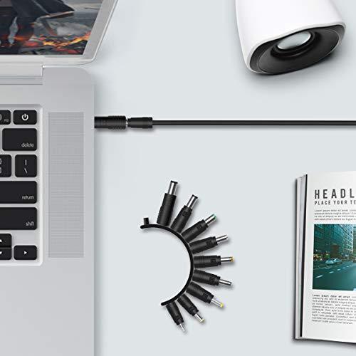 AIEVE Hohlstecker, 10 Stück DC Stecker weiblicher auf männlicher 5,5 x 2,1mm Adapter Buchse Set Zubehör kompatibel mit HP/Dell/ASUS/Lenovo/Acer und andere Laptop und Notebook