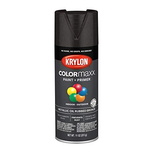 Krylon K05585007 Colormaxx Spray-Paints, Aerosol, Oil Rubbed Bronze, 11 Ounce