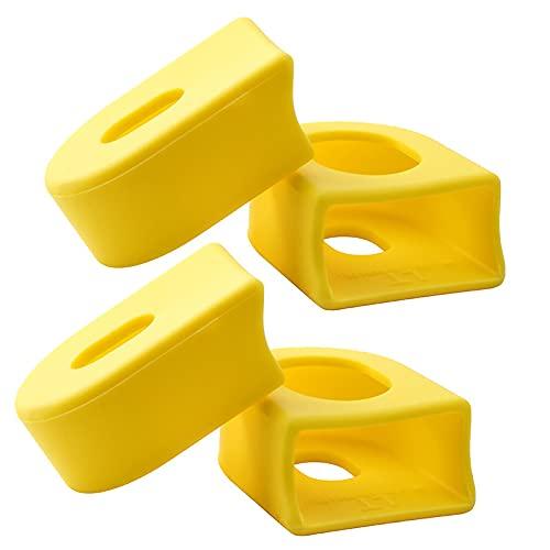 KUCONGST 2 pares de pernos de rueda de cadena estrechos anillos de cadena anchos Juego de manivela Tornillo de aleación de aluminio brazo de manivela conjunto tuerca