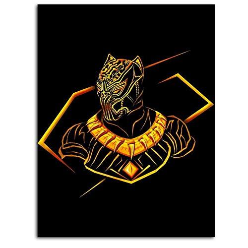 Poster su tela con immagini di drago di Vivi, pantera nera, Chadwick Boseman, stampa 3D, per soggiorno, supereroe Infinity War Avengers Comic King Cold Blooded, 45,7 x 61 cm