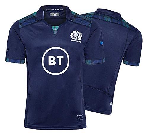 2020 Escocia Hombres de Rugby Jersey, Inicio de la Copa Mundial de Jersey del algodón camiseta gráfica, Fútbol Tela bordada partidario deporte de alto, ideal for el ocio y el deporte ( Size : S )