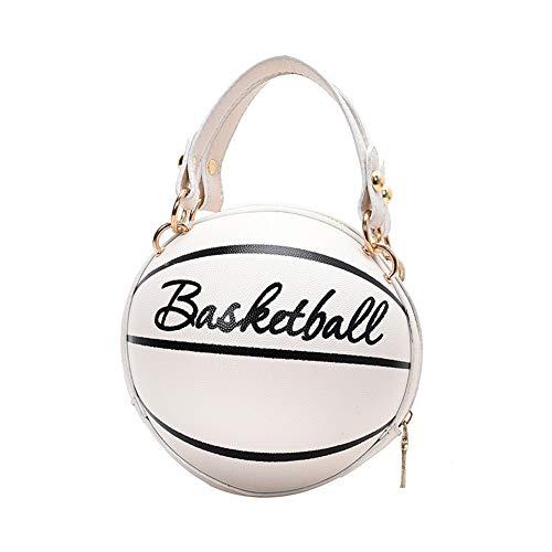Bolso bandolera de moda para mujer, estilo basket-Ball, con cadena, bolsos de mano de piel sintética ocasionales