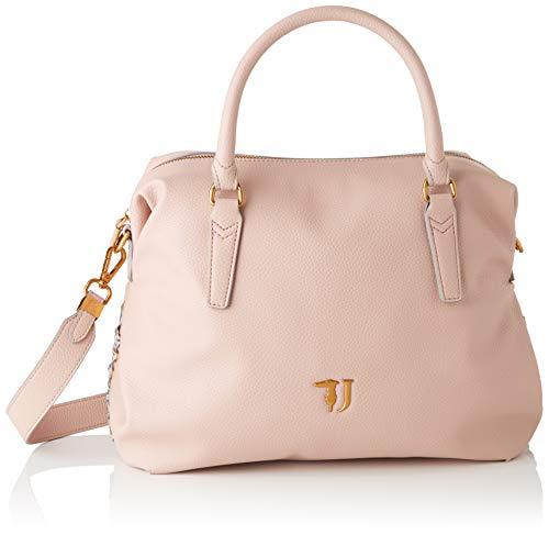 Trussardi Jeans Lavanda Satchel Bag, Borsa a Mano Donna, Rosa (Light Pink), 35x22x15 cm (W x H x L)