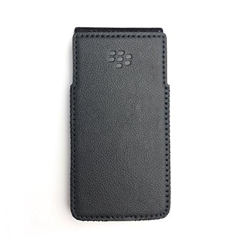 BlackBerry KeyOne Leder-Schutzhülle mit integriertem Holster ohne Gürtelclip, Schwarz