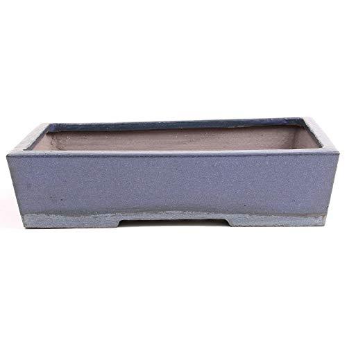 Bonsai - schaal van Walter Venne, hoekig, 27,5 x 19,5 x 6,5 cm grijsblauw, vorstbestendig, 30349