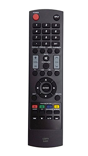 New GJ221 Remote for Sharp LED HDTV TV LC-32D59U LC-32D59 LC-42D69U LC-42D69 SVD-3815 LC-32LE440U LC-32SV29 LC-32SV29U LC-42SV49 LC-42SV49U LC-46SV50 LC-46SV50U LC-50LE440 LC-50LE440U LC-26SV490U
