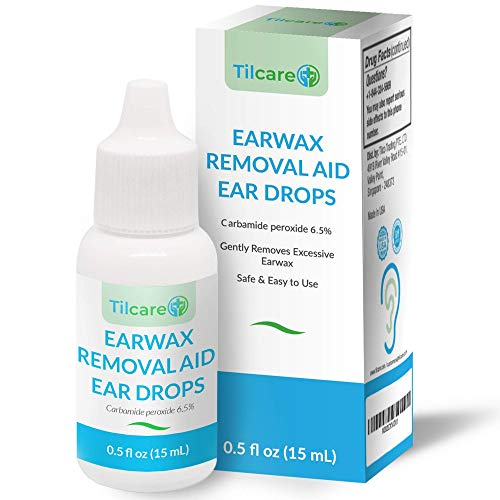 Ear Wax Removal Drops for Clogged Ears by Tilcare - Earwax softening Drops that are effective for Ear Cleaning of Adults and Kids - Earwax Remover Drops that safely and gently wash the ear - 0.5 FL OZ