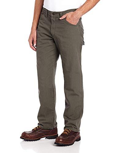 Dickies Men's Relaxed Fit Straight-Leg Duck Carpenter Jean, Moss, 36W x 32L