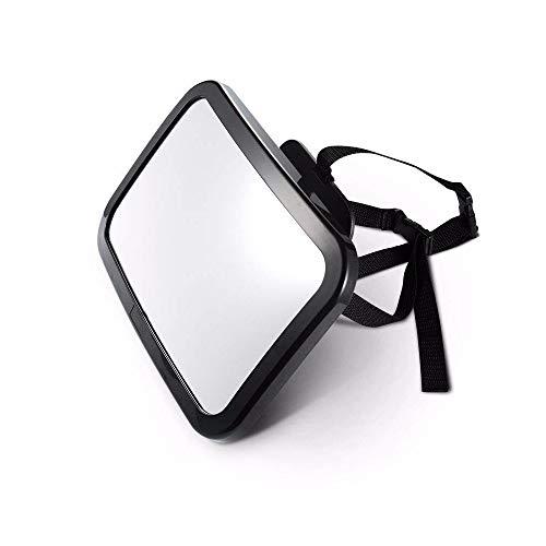 Samine 24.5 x 14.5 x 8 cm Auto pour bébé Miroir, réglable Rotation incassable Enfant Rétroviseur, Rotation à 360 °, sécurisé incassable Miroir pour bébé (Noir)