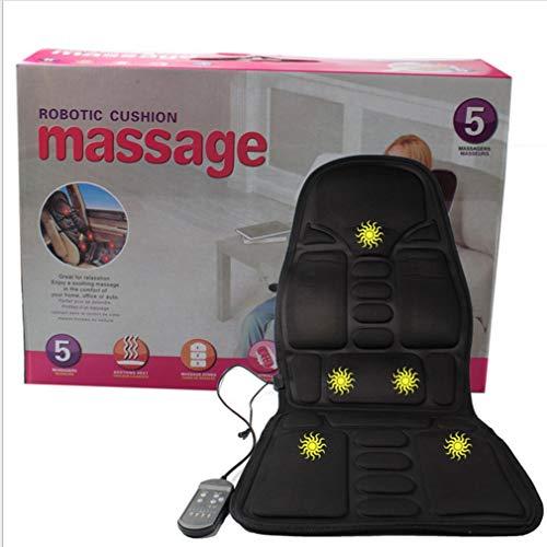 Massagemat Full Body Verwarmd Massagemat Mat Afstandsbediening Kussen Opvouwbaar Zwart