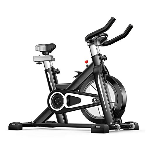 Bicicleta Spinning Profesional,Indoor Cycling Electromagnético Aplicación Inteligente,Resistencia Variable Bicicleta Estatica Ejercicio Aerobico Con Pedal Antideslizante Capacidad de Carga 150KG,Black