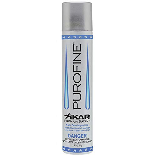 Xikar PUROFINE Premium Butane Fuel Refill for Lighters, 1.9oz