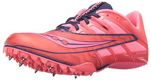 Saucony Spitfire 4 Womens Sprint Running Spikes - Pink-6.5