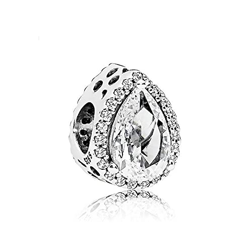 Pandora 925 plata DIY joyería Charmbead lágrima colgante radiante moda para mujer pulsera de regalo joyería